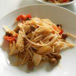 家庭で作る 簡単ライトなツナの全粒粉スパゲッティ