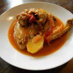 鶏肉とパプリカのローマ風煮込み