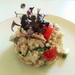 ツナと夏野菜の大麦サラダ マヨネーズあえ