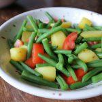 インゲン豆とジャガイモのボイルサラダ