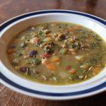 香味野菜と豆のミネストローネ