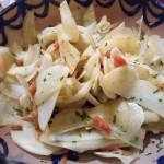 菊芋とボッタルガのサラダ