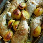 ローズマリーとじゃが芋、鶏肉のオーブン焼き