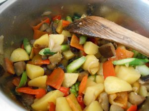 insalata di verdure calde