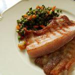 豚バラ肉のグリルと野菜のソテー