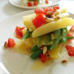 いんげん豆とじゃが芋のサラダ ヨーグルトソース