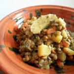 優しいレンズ豆の煮込み